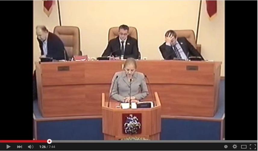 Мосгордума: выступление Е.А.Шуваловой по вопросам Референдума