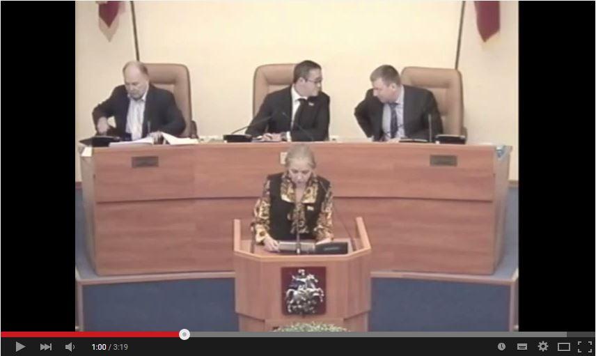 Мосгордума: выступление Е.А.Шуваловой об увековечивании памяти Жукова и Василевского