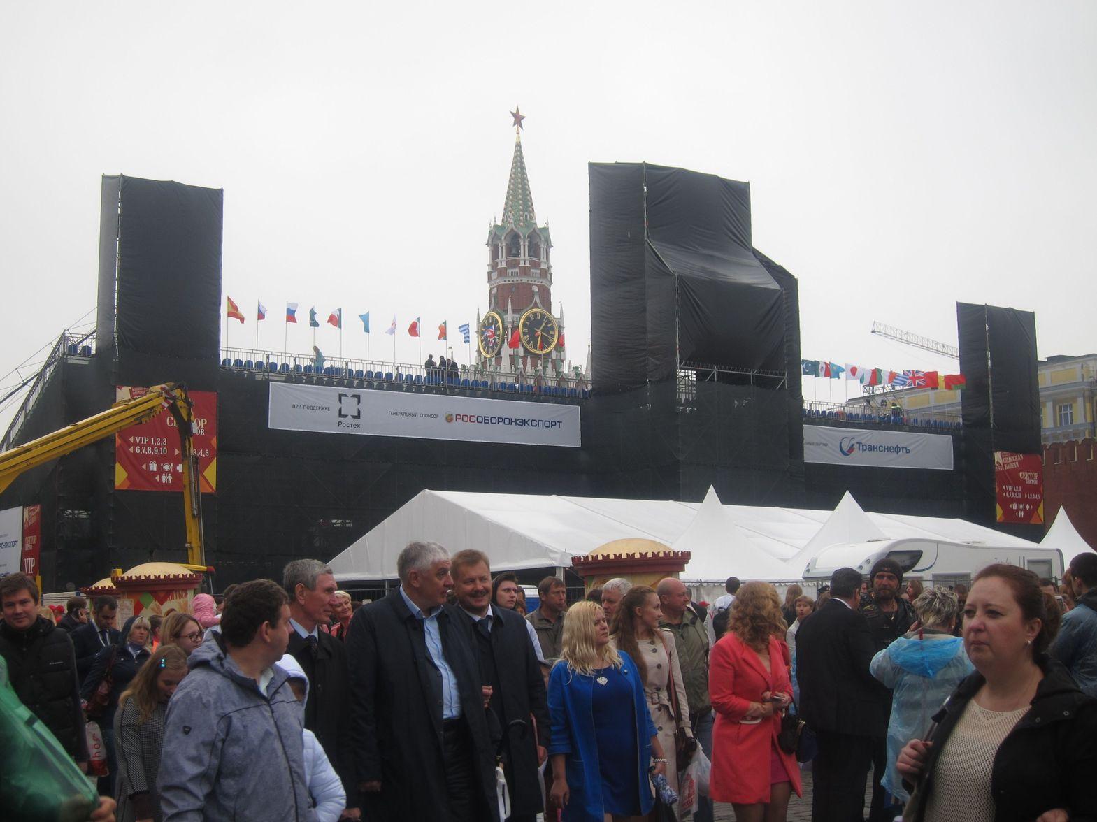 Красная площадь в празднование дня города