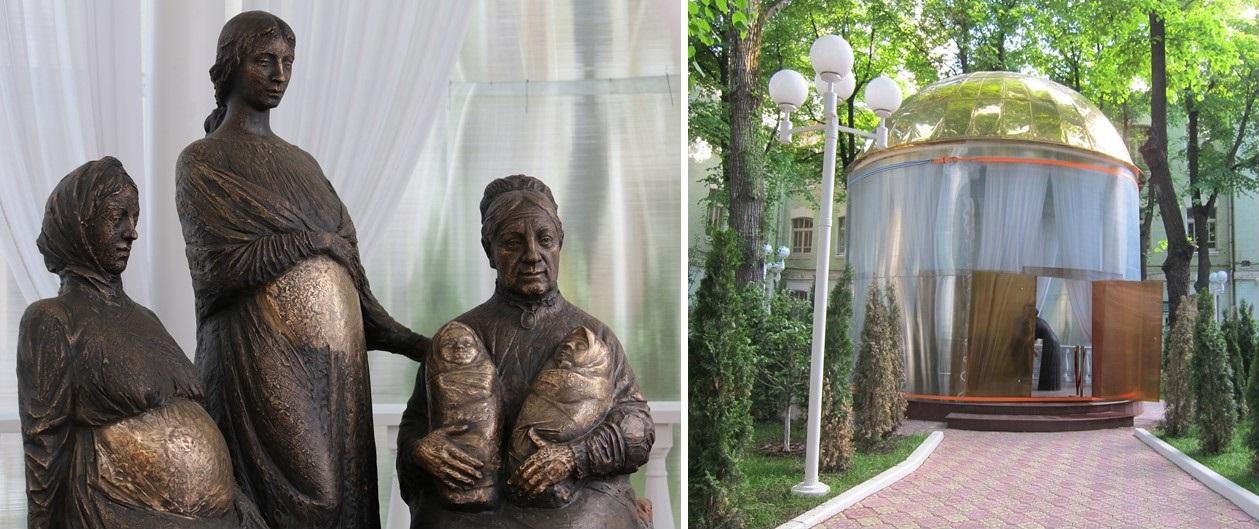 Памятник Агриппине Абрикосовой, созданный Матаевым