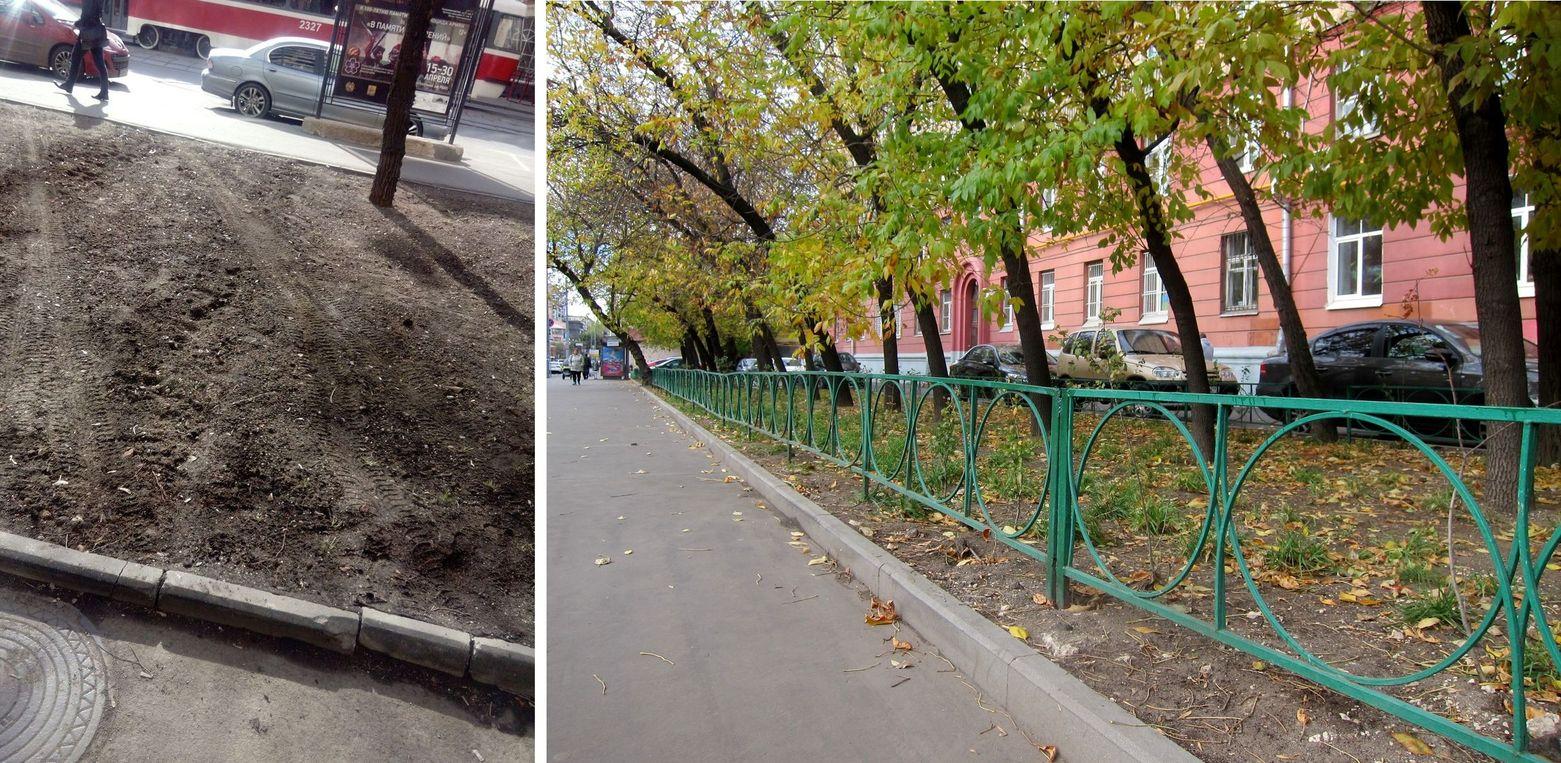 Восстановленная изгородь на Лесной улице